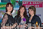 In the frame at the Killarney Rotary club wine and art evening in the Malton Hotel on Thursday evening was l-r: Caty Giles, Felicia Dwyer and Molly Dwyer ......
