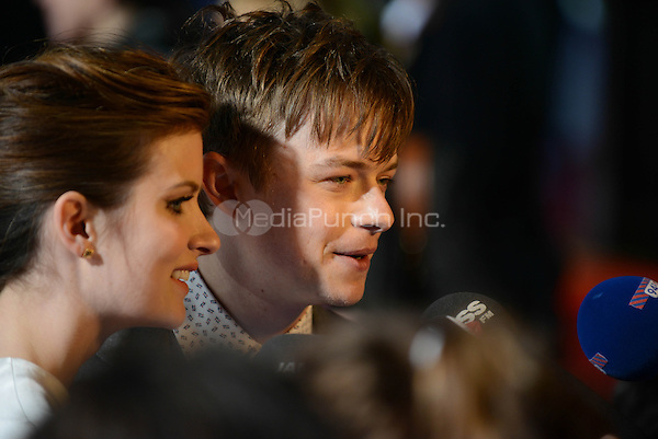 Dane DeHaan and Anna Wood attending the &quot;Amazing Spider-Man 2&quot; Premiere at the CineStar IMAX, Sony Center, Potsdamer Platz, Berlin, Germany, 15.4.2014. <br /> Photo by Janne Tervonen/insight media /MediaPunch ***FOR USA ONLY***