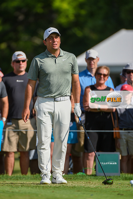 Francesco Molinari (ITA) looks over his tee shot on 3 during round 3 of the 2019 Charles Schwab Challenge, Colonial Country Club, Ft. Worth, Texas,  USA. 5/25/2019.<br /> Picture: Golffile | Ken Murray<br /> <br /> All photo usage must carry mandatory copyright credit (© Golffile | Ken Murray)