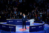 Washington, DC - March 21, 2016: U.S. Sen. Ted Cruz waves to the audience after addressing attendees of the AIPAC Policy Conference at the Verizon Center in the District of Columbia, March 21, 2016. AIPAC is engaged in promoting and protecting the U.S.-Israel relationship to enhance security for both countries. (Photo by Don Baxter/Media Images International)