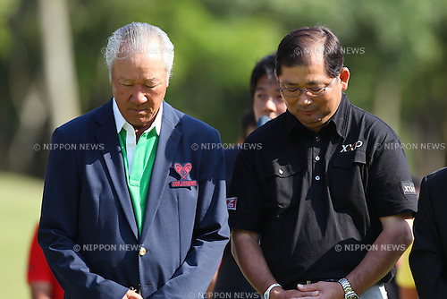 (L to R) Isao Aoki (JPN),Tsuneyuki Nakajima (JPN), May 8th, 2011 - Golf : The Legend Charity Pro-am Tournament, Final Round at Asakura Golf Club, Chiba, Japan. (Photo by Daiju Kitamura/AFLO SPORT) [1045]