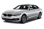 2018 BMW 5 Series 530i 2WD 4 Door Sedan angular front stock photos of front three quarter view