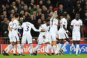 6th December 2017, Wembley Stadium, London England; UEFA Champions League football, Tottenham Hotspur versus Apoel Nicosia; Fernando Llorente of Tottenham Hotspur celebrates after scoring as he makes it 1-0