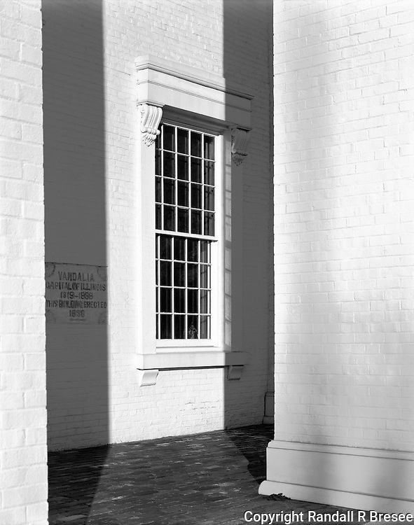 &quot;A Front Window of the State Capitol Building&quot; Vandalia, Illinois<br />