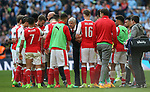Arsenal's Arsene Wenger talks to his side during the FA Cup Semi Final match at Wembley Stadium, London. Picture date: April 23rd, 2017. Pic credit should read: David Klein/Sportimage