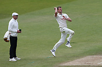 Jake Ball in bowling action for Nottinghamshire during Nottinghamshire CCC vs Essex CCC, Specsavers County Championship Division 1 Cricket at Trent Bridge on 1st July 2019