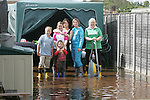 Families spent another night in Northlands estate in Bettystown trying to keep the water from there Homes pictures show the waters had subsided about two feet when we managed to get into the estate in bettystown Co Meath..Photo: Fran Caffrey/ Newsfile.