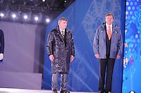 OLYMPICS: SOCHI: Medal Plaza, 09-02-2014, medaille uitreiking, 5000m Men, Jan Dijkema (ISU), Koning Willem-Alexander (erelid IOC),©foto Martin de Jong