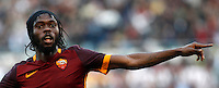 Calcio, Serie A: Roma vs Lazio. Roma, stadio Olimpico, 8 novembre 2015.<br /> Roma's Gervinho celebrates after scoring during the Italian Serie A football match between Roma and Lazio at Rome's Olympic stadium, 8 November 2015.<br /> UPDATE IMAGES PRESS/Isabella Bonotto