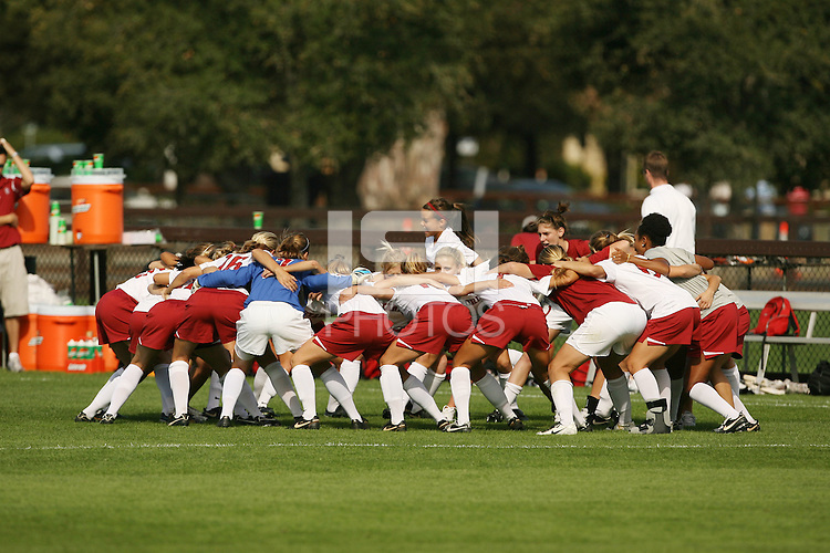 4 November 2007: Kristin Stannard and the team during Stanford's 2-1 overtime win over Washington State at Laird Q. Cagan Stadium in Stanford, CA.