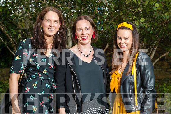 Marie Murphy (Barraduff), Elaine Kiely and Elaine O'Sullivan (Millstreet) at the Rose of Tralee fashion show at the dome on Sunday night.