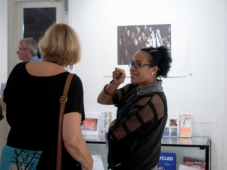 """during the , Royal Queensland Art Society Brisbane Branch - """"Diversity in Print"""" 2016 opening event and prize giving  at the Royal Queensland Art Society, Brisbane, Queensland, Australia, Wednesday, March 30, 2016. (Photo by John Pryke Photographer)"""