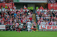 Saturday 20th September 2014  Pictured:  Wayne Routledge tried to chase the ball for Swansea <br /> Re: Barclays Premier League Swansea City v Southampton  at the Liberty Stadium, Swansea, Wales,UK