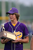 Zach Elliott of the Pavilion Golden Gophers after winning the Section V Class-CC Championship on June 1, 2007.  (Copyright Mike Janes Photography)
