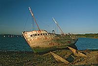 Europe/France/Bretagne/29/Finistère/Le Fret: Epave de bateau