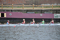 Thames Ditton Regatta. .Rowing down to the start..Wallingford Rowing Club:.J14 B Boys 4X+