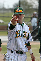 March 17, 2010:  Infielder/Catcher Tanner Adam (6) of North Dakota State University Bison vs. Long Island University at Lake Myrtle Park in Auburndale, FL.  Photo By Mike Janes/Four Seam Images