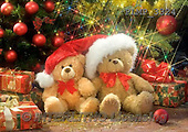 Marek, CHRISTMAS ANIMALS, WEIHNACHTEN TIERE, NAVIDAD ANIMALES, teddies, photos+++++,PLMP3324,#Xa# under Christmas tree,