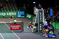 Rotterdam, The Netherlands, 12 Februari 2020, ABNAMRO World Tennis Tournament, Ahoy, Doubles: Benoit Paire (FRA) and Mate Pavic (CRO), Pierre-Hugues Herbert (FRA) and Nicolas Mahut (FRA).<br /> Photo: www.tennisimages.com