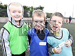 Samuel Mulen, Tristan Luckey and Shane Boyle who took part in the St Mary's GAA Club Academy for 4-7 year olds. Photo:Colin Bell/pressphotos.ie
