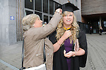 23/10/2015  Pictured at the recent Mary Immaculate College conferring ceremonies were Tara Sheehan, Ennis, Co. Clare, who graduated with a BA in Early Childhood Studies with her Mum Deirdre Sheehan. 625 students from 20 counties and 3 continents were conferred with academic awards across the College&rsquo;s 27 programmes including the College&rsquo;s 100th PhD award.<br /> Pic: Gareth Williams / Press 22<br /> <br /> Press Release: 23rd October 2015Education is a movement of formation that enables the individual to play their role in transforming society for the common good.100th PhD Graduate Conferred at Mary Immaculate CollegeEducation is a movement of formation that enables the individual to play their role in transforming society for the common good according to Prof. Michael A Hayes, President of Mary Immaculate College, who was speaking at the College&rsquo;s conferring ceremonies today Friday 23rd October. The quality of advanced scholarship at Mary Immaculate College was evident on the day as the 100th PhD graduate was conferred along with close on 650 students from 20 counties and 3 continents all of whom graduated with academic awards across the College&rsquo;s 27 programmes. Congratulating all those graduating the President said &ldquo;These ceremonies mark the high point of the College&rsquo;s year as we acknowledge the achievement of our students. The ceremonies this year are particularly special as we mark the conferring of our 100th PhD Graduate &ndash; this is a very proud achievement for us as a College and I want to congratulate those who have received these doctorates and my colleagues who supervised their work&rdquo;. Not only were students conferred with awards on undergraduate, diploma, graduate diploma and master programmes but this year marked the first graduation of students from the Certificate in General Learning &amp; Personal Development, a programme  for people with intellectual disabilities.&ldquo;Working with students with intellectual disabilities and offering them a third level experience