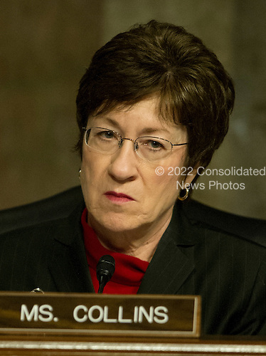 United States Senator Susan M. Collins (Republican of Maine), listens as General John R. Allen, USMC, Commander, International Security Assistance Force and Commander, United States Forces Afghanistan, testifies on the situation in Afghanistan before the U.S. Senate Armed Services Committee on Capitol Hill in Washington, D.C. on Thursday, March 22, 2012..Credit: Ron Sachs / CNP