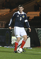 Paul Hanlon in the Scotland v Luxembourg UEFA Under 21 international qualifying match at St Mirren Park, Paisley on 6.9.12.