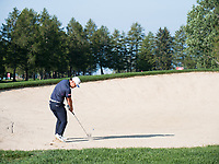 Hideto Tanihara (JPN) from the bunker on the 1st hole during second round at the Omega European Masters, Golf Club Crans-sur-Sierre, Crans-Montana, Valais, Switzerland. 30/08/19.<br /> Picture Stefano DiMaria / Golffile.ie<br /> <br /> All photo usage must carry mandatory copyright credit (© Golffile | Stefano DiMaria)