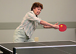 Louisa Vanderlinden plays ping pong at the Carson City Senior Citizen Center in Carson City, Nev., on Wednesday, Aug. 22, 2012..Photo by Cathleen Allison