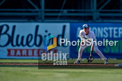 29 August 2019: Vermont Lake Monsters infielder Logan Davidson in action against the Connecticut Tigers at Centennial Field in Burlington, Vermont. The Lake Monsters fell to the Tigers 6-2 in the first game of their NY Penn League double-header.  Mandatory Credit: Ed Wolfstein Photo *** RAW (NEF) Image File Available ***