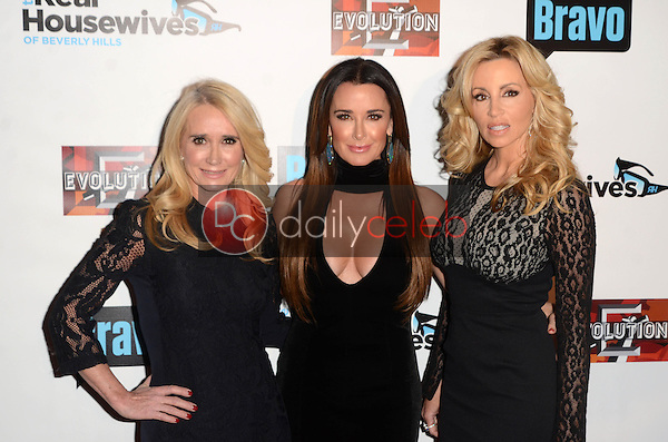 """Kim Richards, Kyle Richards, Camille Grammer<br /> at """"The Real Housewives of Beverly Hills"""" Season 7 Premiere Party, Sofitel Hotel, Beverly Hills, CA 12-02-16<br /> David Edwards/DailyCeleb.com 818-249-4998"""