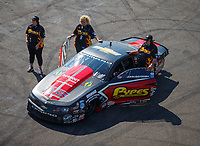 Aug 19, 2017; Brainerd, MN, USA; Crew members for NHRA pro stock driver John Gaydosh Jr during qualifying for the Lucas Oil Nationals at Brainerd International Raceway. Mandatory Credit: Mark J. Rebilas-USA TODAY Sports