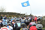 The peloton tackle one of the numerous climbs during Stage 2 of the Tour de Yorkshire 2017 running 122.5km from Tadcaster to Harrogate, England. 29th April 2017. <br /> Picture: ASO/A.Broadway | Cyclefile<br /> <br /> <br /> All photos usage must carry mandatory copyright credit (&copy; Cyclefile | ASO/A.Broadway)