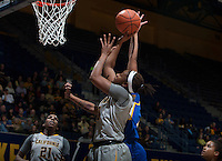 Mercedes Jefflo of California shoots the ball during the game against Bakersfield at Haas Pavilion in Berkeley, California on December 15th, 2013.  California defeated Bakersfield Roadrunners, 70-51.
