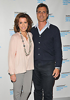 Natasha Kaplinsky and Justin Bower at the Parkinson's UK presents Symfunny No. 2, Royal Albert Hall, Kensington Gore, London, England, UK, on Wednesday 19 April 2017.<br /> CAP/CAN<br /> &copy;CAN/Capital Pictures