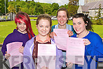 St Brigids Presentation girls l-r: Jessica O'Connor Ballyhar, Cora Power Kilcummin, Lucy Vogelsang-O'Dwyer Fossa and Laura McLarnon Spa who were happy with the English paper in the Leaving Cert on Wednesday