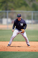 New York Yankees Andrews Chaparro (72) during practice before a Minor League Spring Training game against the Toronto Blue Jays on March 18, 2018 at Englebert Complex in Dunedin, Florida.  (Mike Janes/Four Seam Images)