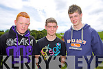Alan O'Connell, Gavin Maloney and Padraig Maloney at Abbeyfeale races on Sunday.