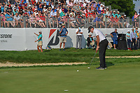 Ian Poulter (GBR) watches his putt on 18 during 4th round of the World Golf Championships - Bridgestone Invitational, at the Firestone Country Club, Akron, Ohio. 8/5/2018.<br /> Picture: Golffile | Ken Murray<br /> <br /> <br /> All photo usage must carry mandatory copyright credit (© Golffile | Ken Murray)