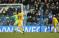 Preston North End's Declan Rudd saves from Sheffield Wednesday's Marco Matias <br /> <br /> Photographer Mick Walker/CameraSport<br /> <br /> The EFL Sky Bet Championship - Sheffield Wednesday v Preston North End - Saturday 22nd December 2018 - Hillsborough - Sheffield<br /> <br /> World Copyright &copy; 2018 CameraSport. All rights reserved. 43 Linden Ave. Countesthorpe. Leicester. England. LE8 5PG - Tel: +44 (0) 116 277 4147 - admin@camerasport.com - www.camerasport.com
