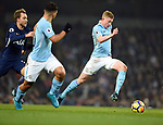 Kevin De Bruyne of Manchester City during the premier league match at the Etihad Stadium, Manchester. Picture date 16th December 2017. Picture credit should read: Robin ParkerSportimage
