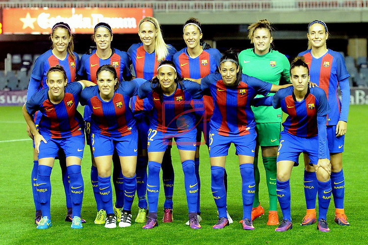 UEFA Women's Champions League 2016/2017.<br /> Round of 16 - First Leg<br /> FC Barcelona vs Twente: 1-0.