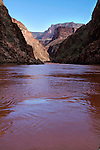 The Colorado River near Grapevine Rapid in Grand Canyon.