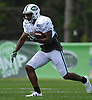 Bilal Powell #29 runs the ball during New York Jets Training Camp at Atlantic Health Jets Training Center in Florham Park, NJ on Tuesday, Aug. 1, 2017.