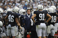 15 November 2008:  Injurred Penn State LB Sean Lee huddles with the Penn State defense on the field during a time out.  The Penn State Nittany Lions defeated the Indiana Hoosiers 34-7 at Beaver Stadium in State College, PA..