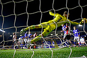 1st November 2017, St. Andrews Stadium, Birmingham, England; EFL Championship football, Birmingham City versus Brentford; Daniel Bentley of Brentford makes a good diving save