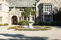 A fountain and circular drive mark the entrance to the Playboy Mansion, Los Angeles, Calif. January 8, 2016.<br /> CREDIT: Lisa Corson for The Wall Street Journal<br /> Slug: PLAYBOY