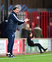Bristol Rovers manager Darrell Clarke shouts instructions to his team from the technical area<br /> <br /> Photographer Chris Vaughan/CameraSport<br /> <br /> The EFL Sky Bet League One - Scunthorpe United v Bristol Rovers - Saturday 11th November 2017 - Glanford Park - Scunthorpe<br /> <br /> World Copyright &copy; 2017 CameraSport. All rights reserved. 43 Linden Ave. Countesthorpe. Leicester. England. LE8 5PG - Tel: +44 (0) 116 277 4147 - admin@camerasport.com - www.camerasport.com