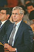 United States Senator John Danforth (Republican of Missouri) watches the hearing before the US Senate Judiciary Committee to confirm Judge Clarence Thomas as Associate Justice of the US Supreme Court in the US Senate Caucus Room in Washington, DC on September 10, 1991.  Thomas was nominated for the position by US President George H.W. Bush on July 1, 1991 to replace retiring Justice Thurgood Marshall.<br /> Credit: Arnie Sachs / CNP