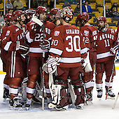 - The Harvard University Crimson defeated the Northeastern University Huskies 3-2 in the 2012 Beanpot consolation game on Monday, February 13, 2012, at TD Garden in Boston, Massachusetts.